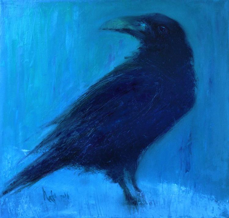 Raven / 50 × 50 cm x 2cm / READY TO HANG! - Image 0
