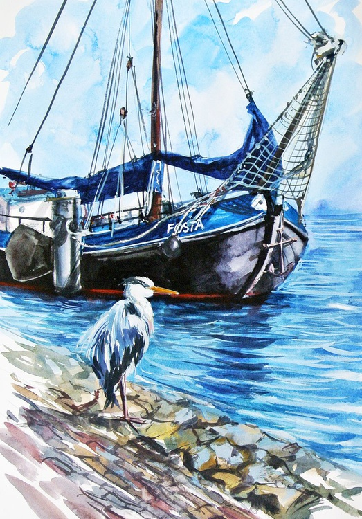 A Heron from Volendam - Image 0