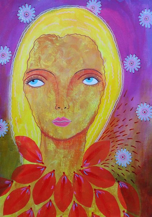 Fair Hair Woman With Petals - Image 0