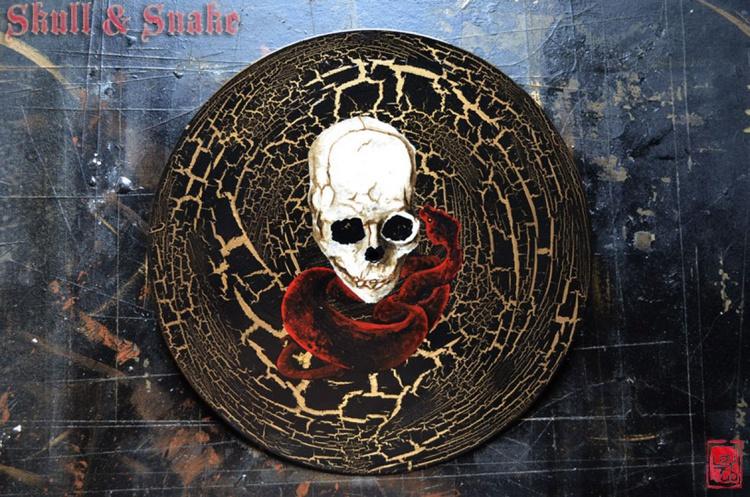 Vinyl Records Art - Skull and Snake - Image 0