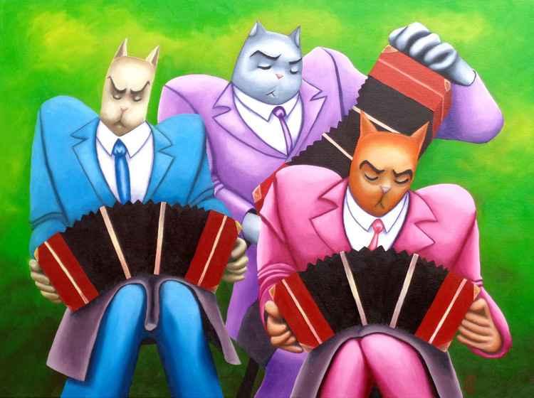 Tres gatos con tres bandoneones