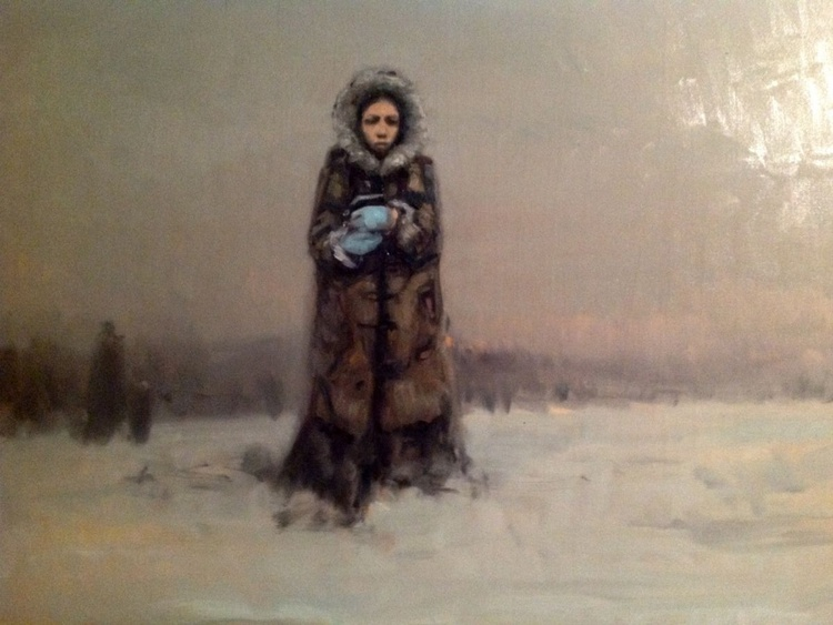 A Woman in the Snow - Image 0