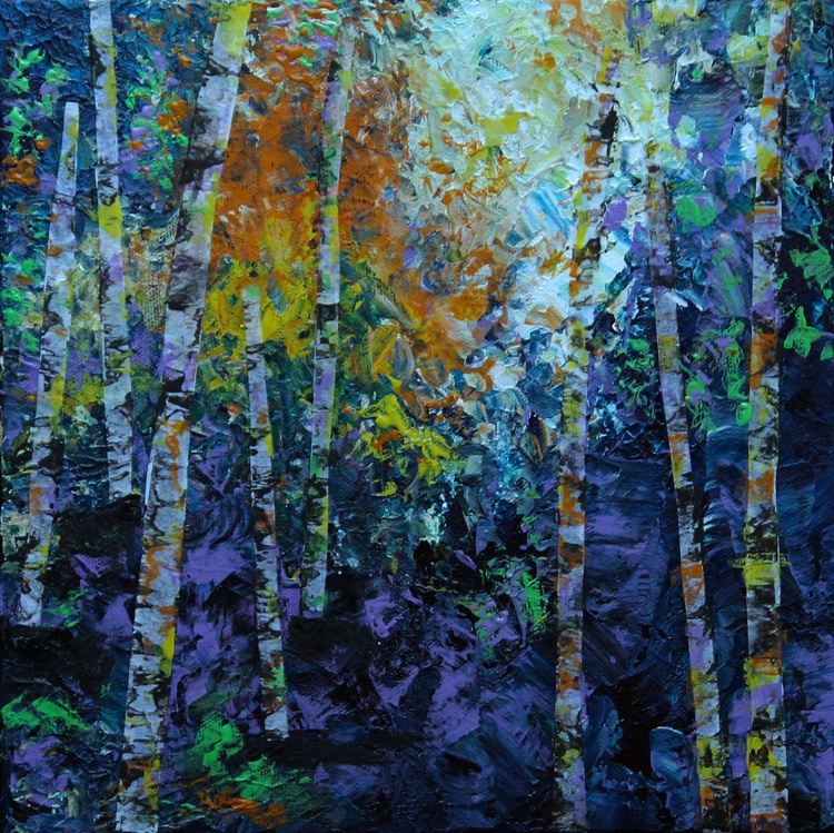 Birches at Dawn - Image 0