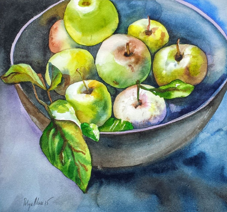 Bowl with apples - Image 0