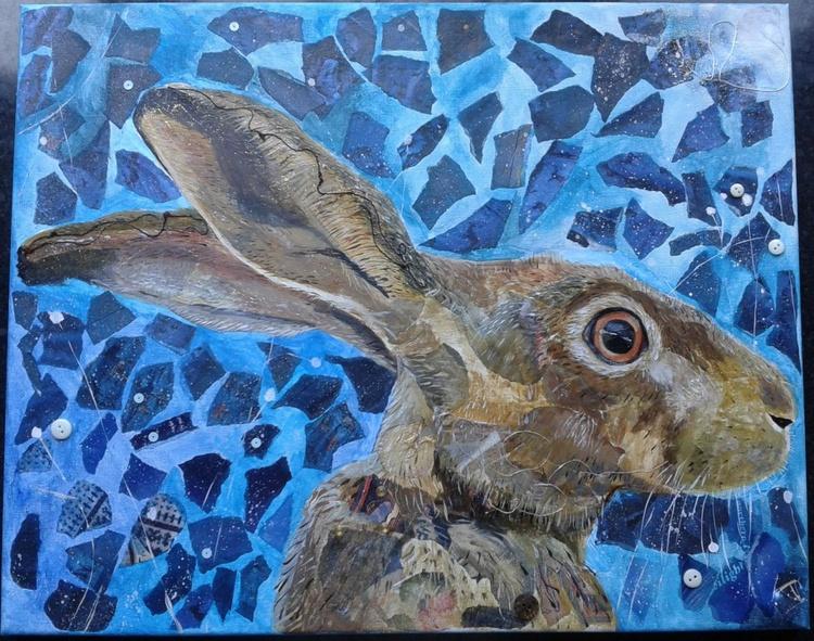 Hare in moonlight - june - Image 0
