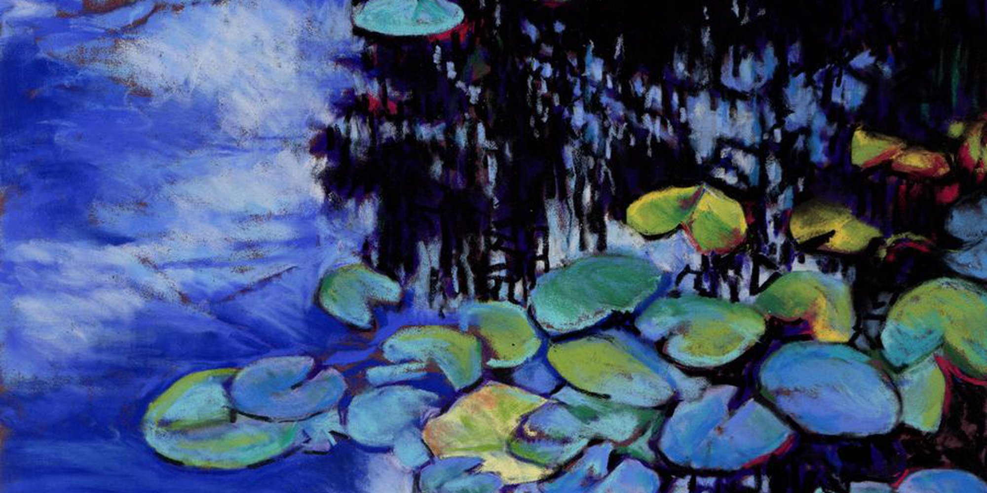 """Art of the Day: """"Monet's Garden - Lily Pads, 2017"""" by Zoe Elizabeth Norman"""
