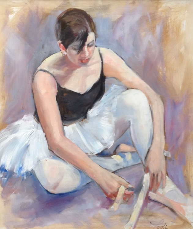 DANCER TYING HER SHOES - Image 0