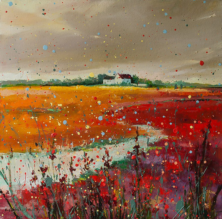 'Red Field after Storm' - Image 0