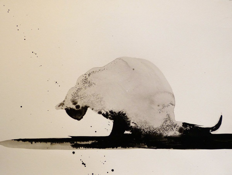 The Siamese Cat, ink drawing 29x42 cm - Image 0