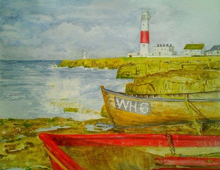 """THE LIGHTHOUSE"", watercolour - Image 0"