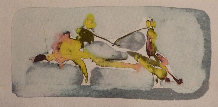 On the Cezanne Island #13, 20x40 cm - Image 0