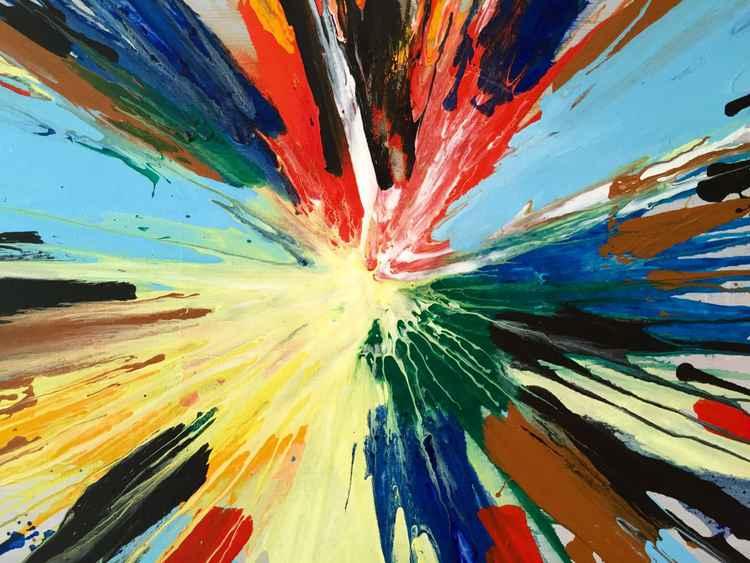 Multi Coloured Spin Art #3 -