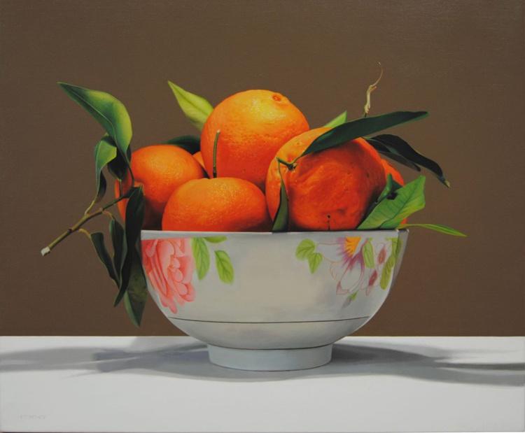 Tangerines , Original oil on canvas painting - Image 0