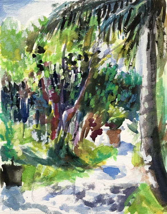 Water color: Palm Tree Garden - Image 0
