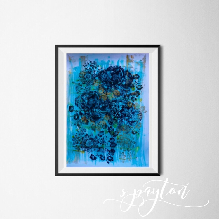 Abstract Floral Giclee Print 2016 A2 Size - Image 0