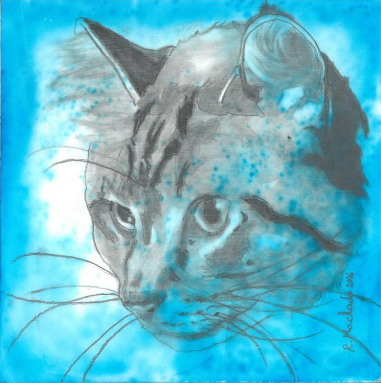 Blue cat art I - Image 0