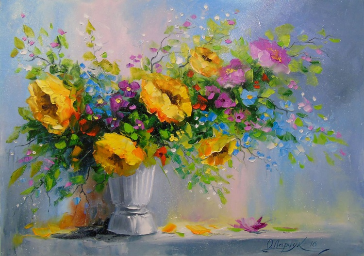 Bouquet of yellow flowers - Image 0