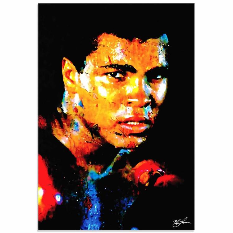 Mark Lewis 'Muhammad Ali Affirmation Realized' Limited Edition Pop Art Print on Acrylic - Image 0