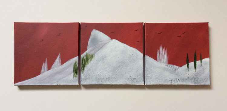 """ power of silence "" Landscape ( triplet miniature size ) -"