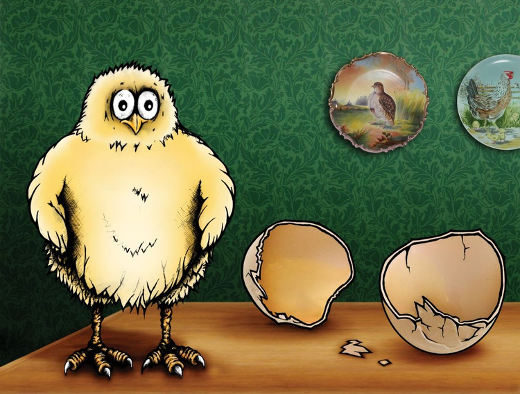 Surprised Chick in Your Aunt's Dining Room - Image 0