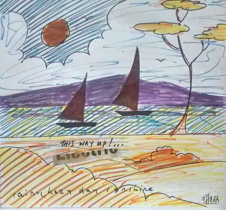 Sailboat sunset (this way up!)