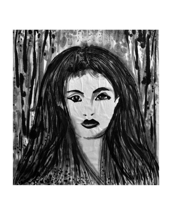 Geisha with Her Hair loose - Image 0