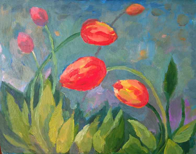 Tulips in Spring. Flowers -