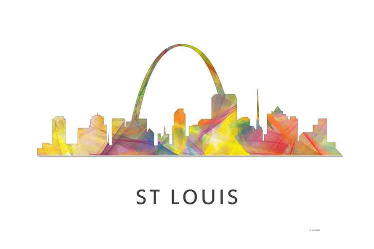 St Louis Missouri Skyline WB1 -