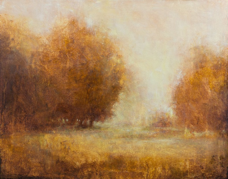 Misty Oak Trees 24x30 inches - Image 0