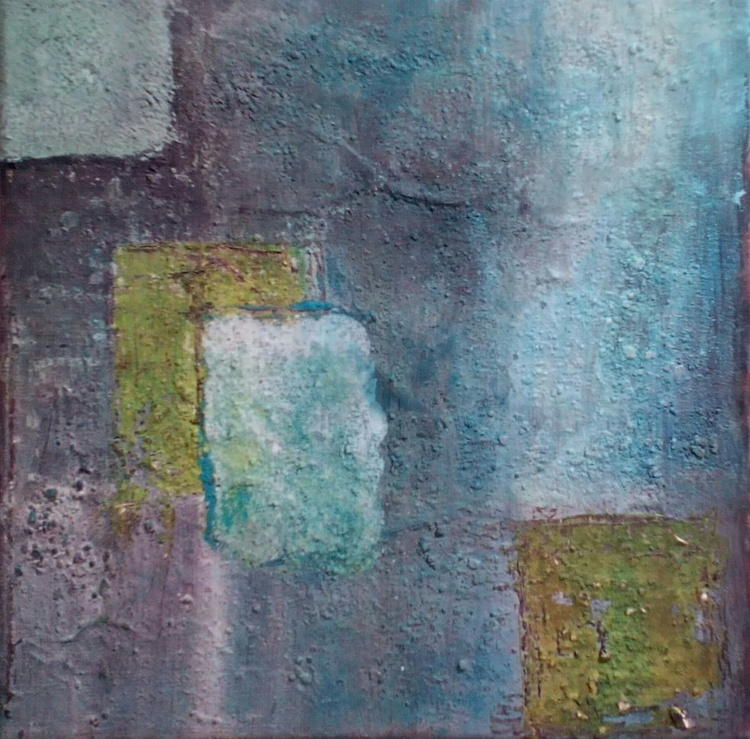 DISCREET textured abstraction Original Modern Abstract Painting On Stretched Canvas Modern Acrylic Paint On Textured Canvas - Perfect gift and walls decoration. Unique textured artwork. - Image 0