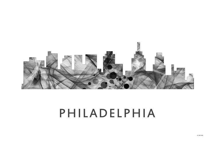 Philadelphia Pennsylvania Skyline WB BW