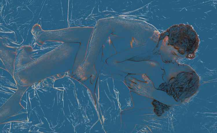 Lovers in Blue -