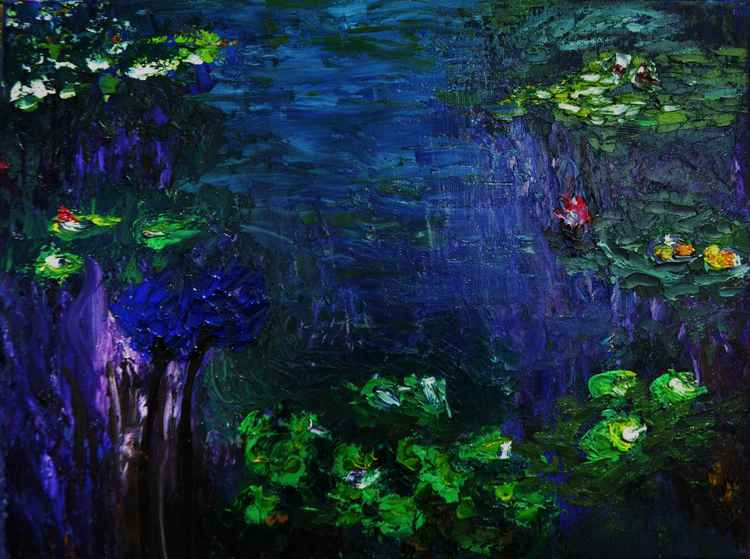 "Monet""s waterlilies ""Waterlilies dance 2"" -"
