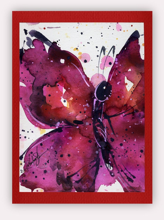 Butterfly Watercolor Painting - Butterfly Delight No. 15 - Image 0
