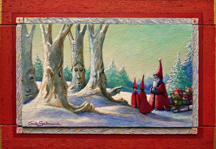 THE RIGHT PATH FOR THE CHRISTMAS GIFTS - ( framed ) - Image 0