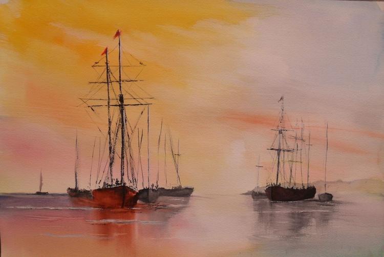 Flotilla of Sailing Boats - Image 0
