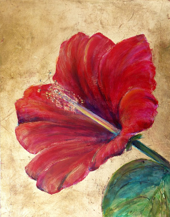 Hibiscus in Gold - Image 0