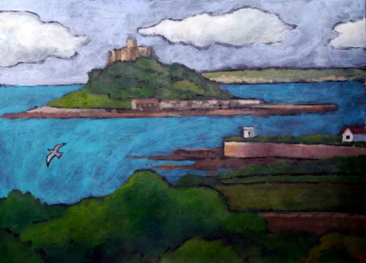 St Michael's Mount from Marazion.