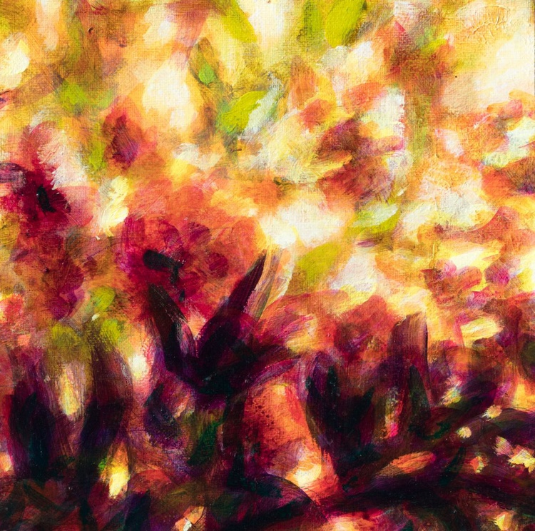 Autumn flowers - small size unstretched canvas - Image 0