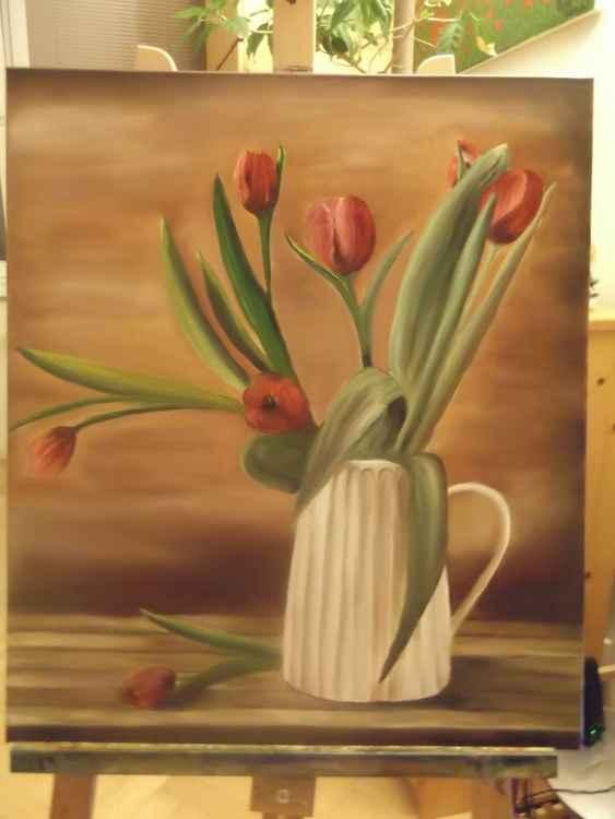 Late night tulips -