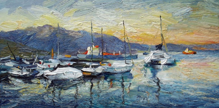"""Harbor at sunrise"" - Image 0"