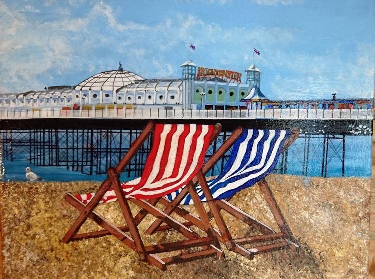 Brighton Pier and Deckchairs - Image 0