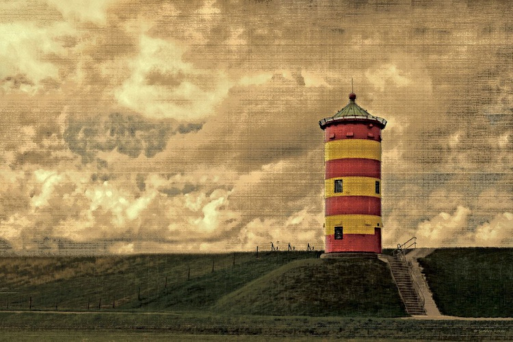 Lighthouse Pilsum - Canvas 75 x 50 cm - Image 0