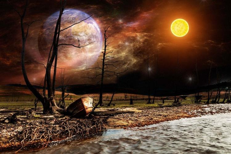 The strange starry night / paper - Image 0
