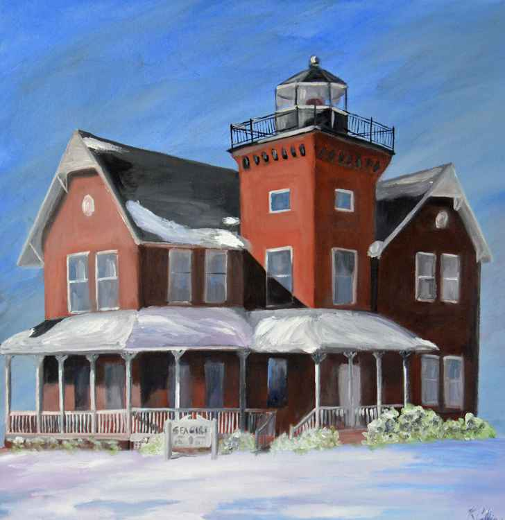 Sea Girt Lighthouse in Winter, NJ
