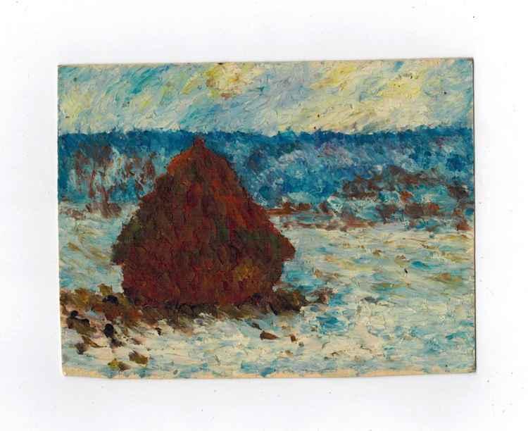 Dreaming of Monet - Winter Haystack -