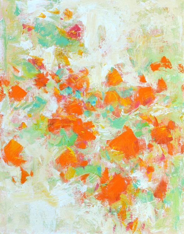 Orange Blooms 11x14 inches - Image 0