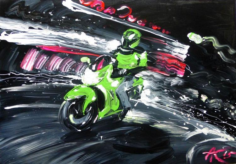 night Rider, 100x70 cm - Image 0
