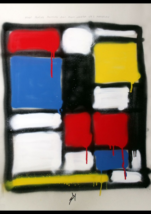 Other People's Paintings only Much Cheaper: No3 Mondrian (on plain paper) - Image 0