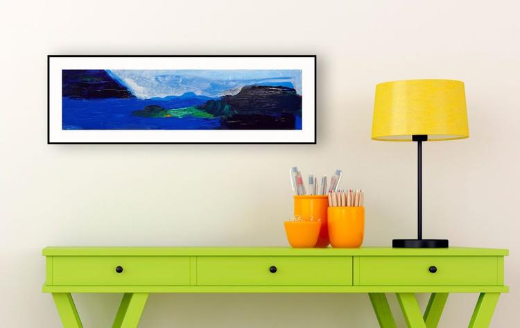 "Cobalt Seas 20.5"" x 5""/53 x 13 cm - Image 0"